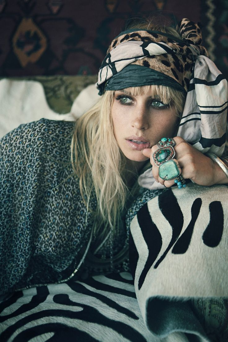 adore turquoise: Fashion, Style, Boho, Turquoise Rings, Accessories, Gypsy, Bohemian, Head Scarf