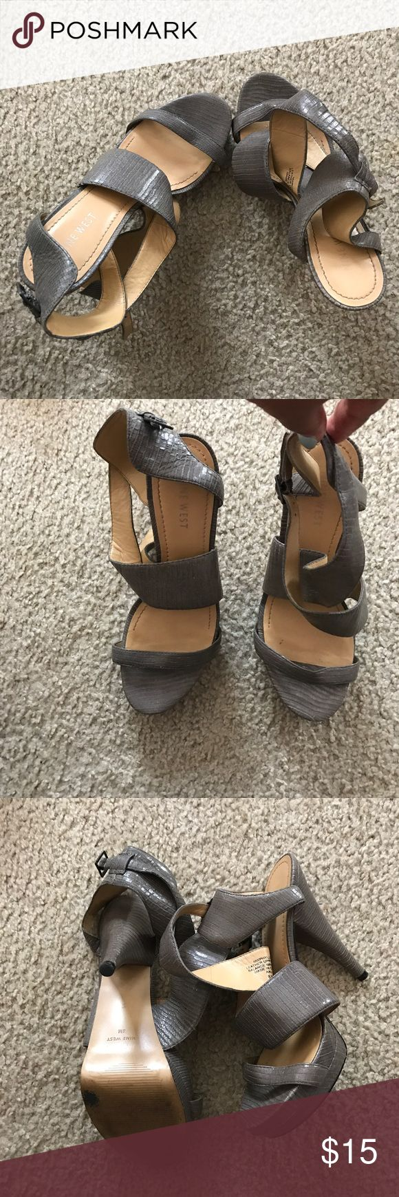 Grey heel sandals Grey heel sandals Nine West Shoes Heels