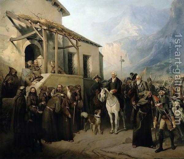 Field-marshal Alexander Suvorov (1729-1800) on the St Gothard summit, 13th September 1799.