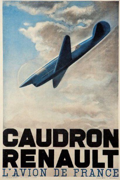 """H. CHAUFFARD CAUDRON RENAULT. """"L'AVION DE FRANCE"""". 1936 Imprimerie spéciale"""