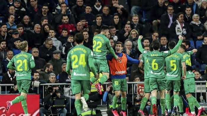 Madrid Eliminated By Real Sociedad In Copa Del Rey Get The Latest News For Realmadrid Inside Pinterest O In 2020 Real Sociedad Real Madrid Goal Real Madrid Football