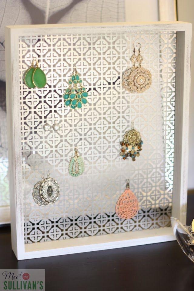 Meet the Sullivans: DIY Perforated Sheet Metal Jewelry Display