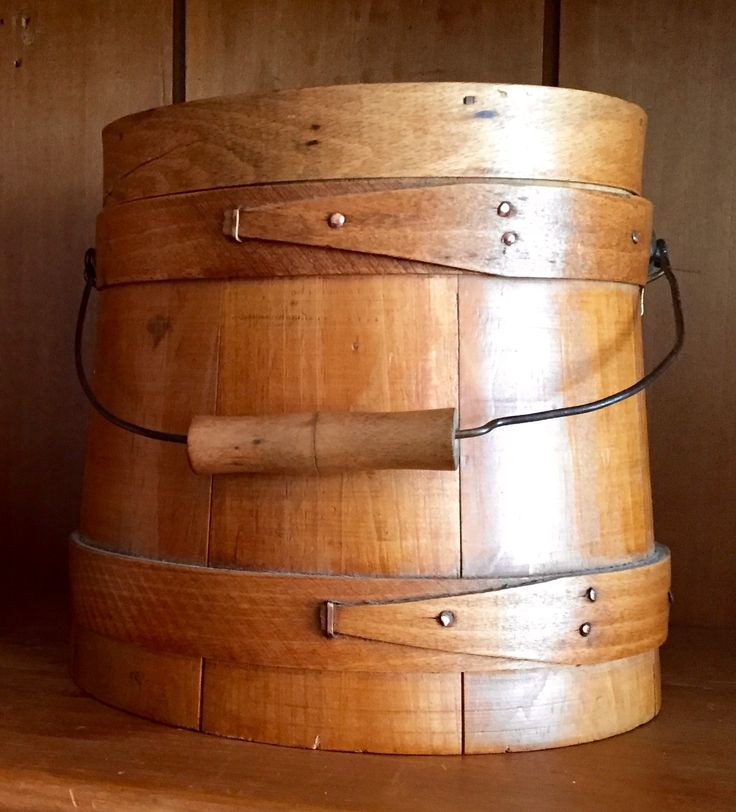 Antique sugar bucket smallest size bail handle copper