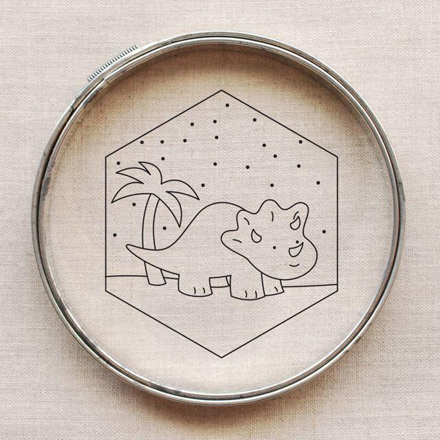 dinosaur embroidery pattern // wild olive