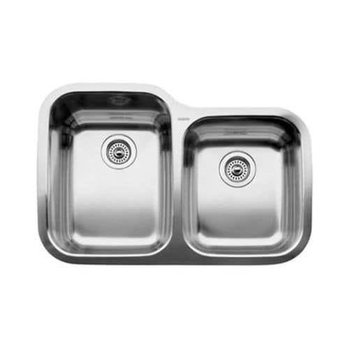 """Blanco 440234 Supreme 1-3/4 Basin Undermount Stainless Steel (Silver) Kitchen Sink 31 5/16"""" x 20 7/8"""""""