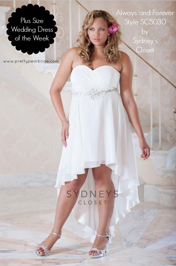 {Plus Size Wedding Dress of the Week} Chiffon High Low Dress by Sydney's Closet