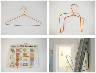 Portuguese-language DIY weblog SuperZiper details how to turn a simple wire hanger into a book, magazine, or file rack with just a few simple bends. All it takes is a sturdy wire hanger, a nail, and a few minutes and you've got a quick rack. The author uses her wire hanger rack to hold library books near the door so she doesn't forget them on the way out. Make the base a little wider and shorter and it could also be a very cool way to hang some art on the cheap-and-easy. Add this to th