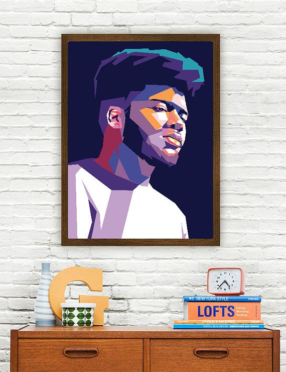 "Khalid Limited Artwork The sizes available include 8x10, 11x14, 16x20 20x24 This artwork is part of my ""Abstract"" collection, featuring a creative perspective on todays pop culture icons. This limited art print is printed to ship at a professional photo lab. The print itself is a high"