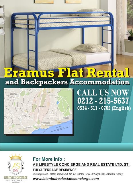 AS Lifestyle Concierge and Real Estate Services Ltd. Sti.: Erasmus Flat Rental and Backpackers Accommodation