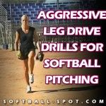 Check out these leg drive drills for softball pitching! The leg drive gets the ball to the catcher faster & keeps the pitcher from getting tired too quickly