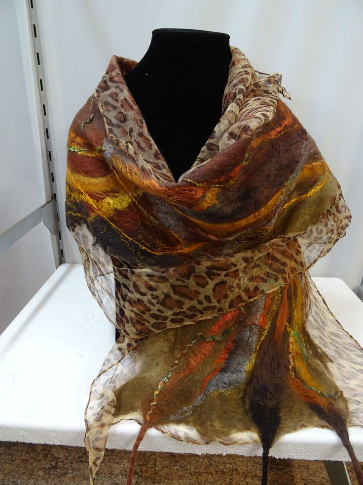 Inspired by the outback Nuno felted with Australian Merino wool and soft silk fibres. #wowcreationsqld