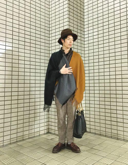 Y's Wardrobe: ユニクロのポンチョを久しぶりに 暖かい日はこれで十分
