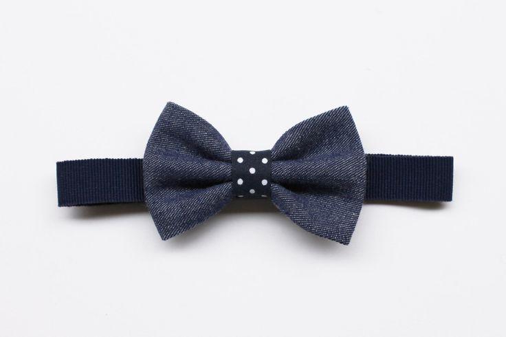 Papillon per Bambino jeans e pois blu,azzurro,fucsia,rosso,accessori denim,regalo per bambino cerimonia,papillon per paggetto porta anelli di ScoccaPapillon su Etsy