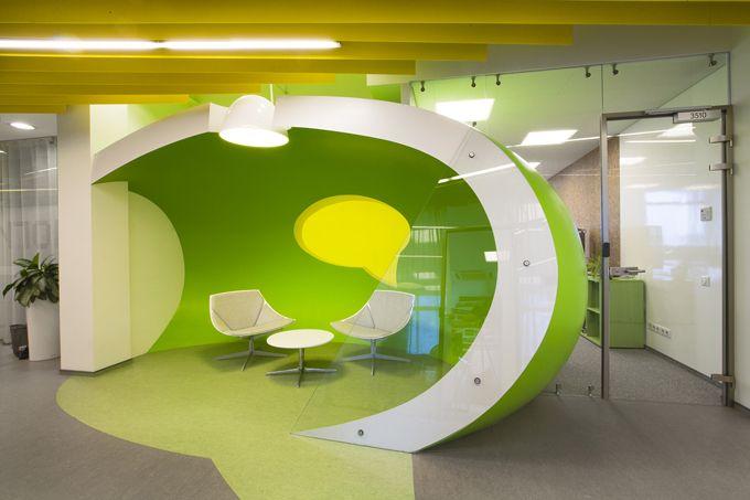Good office design yandex business interiors apple slice for Successful office design