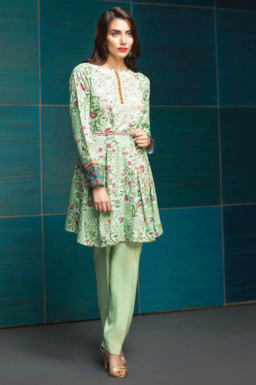 Pakistani Waist Belt Dresses Designs for Women Formal Wear 2017