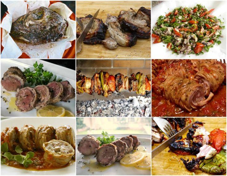 πασχαλινό τραπέζι - μεζέδες: κοκορέτσι, κοντοσούβλι, γαρδουμπάκια, κεφαλάκι
