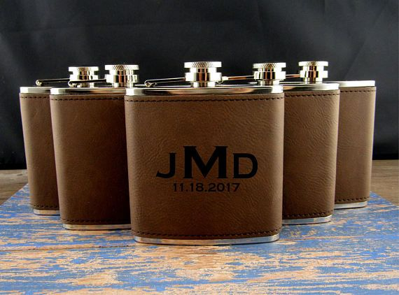 Groomsman Flask Gift Groomsmen GiftPersonalized Flask