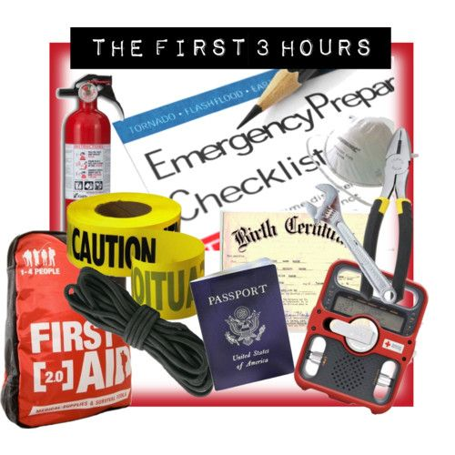 survival emergency kit {the first 3 hours}