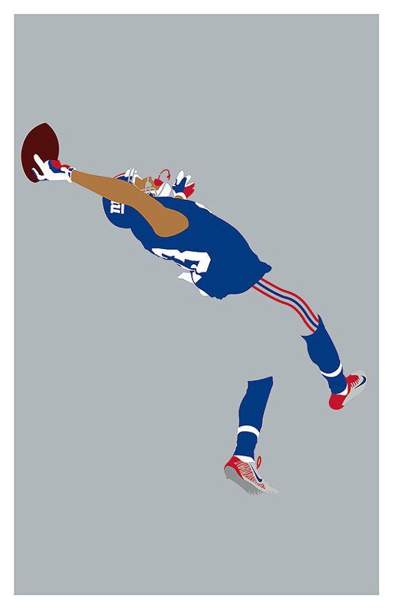 New York Giants Odell Beckham Jr. Poster by headfuzzbygrimboid
