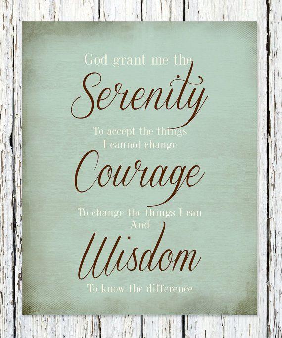 "Serenity Prayer to Print Out | The ""Serenity Prayer"" Print Wedding Anniversary Gift, Engagement ..."