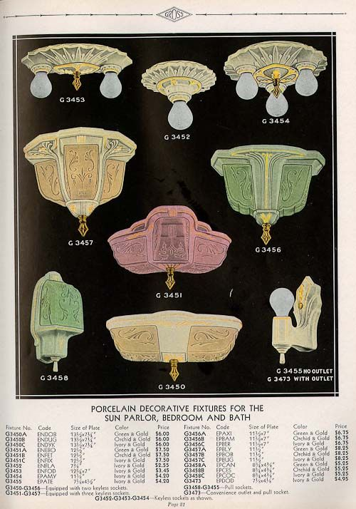 1932 Gross Porcelain Lighting Catalog