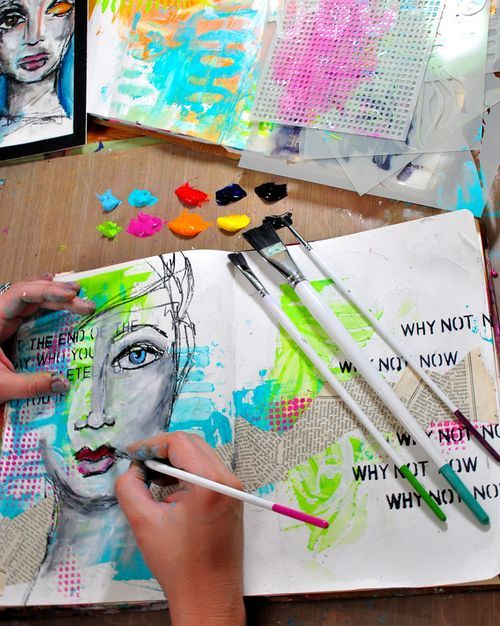 """""""why not now"""" with really great selection and use of color"""