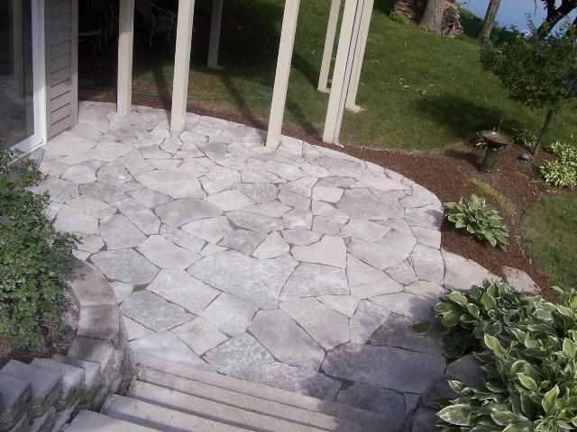 This Is A Flagstone Patio In Mundelein, IL. A Natural Stone Patio Creates  The Perfect Transition From The Home To The Backyard.