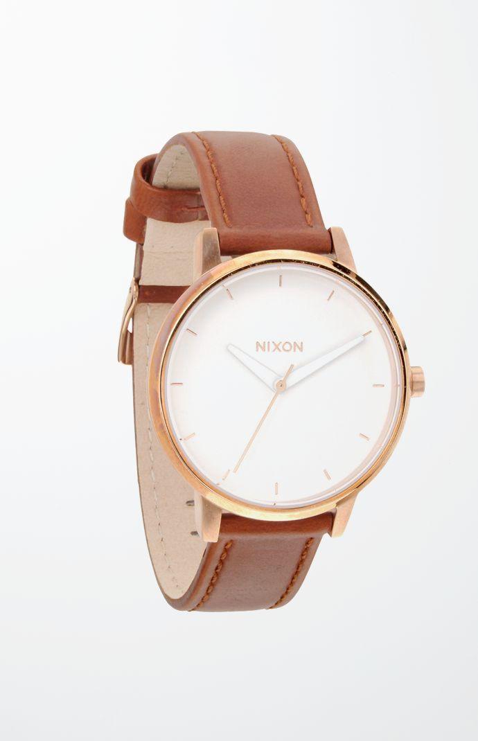 Kensington Leather Gold Watch