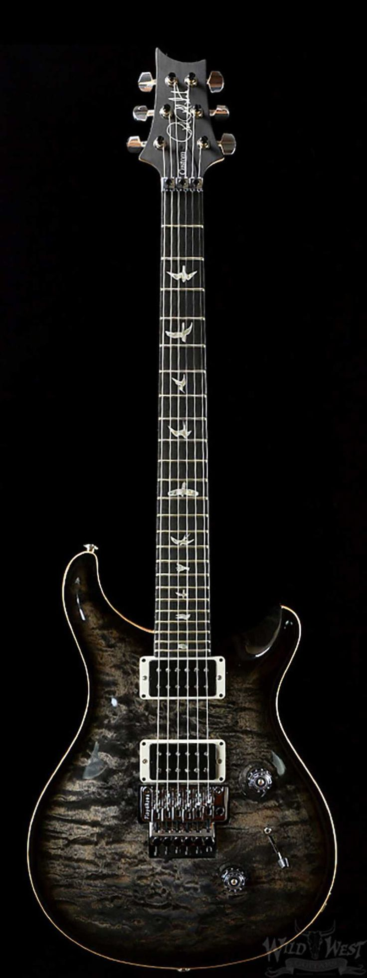 PRS Custom 24 Floyd Charcoal Burst 10 Top - Wild West Guitars