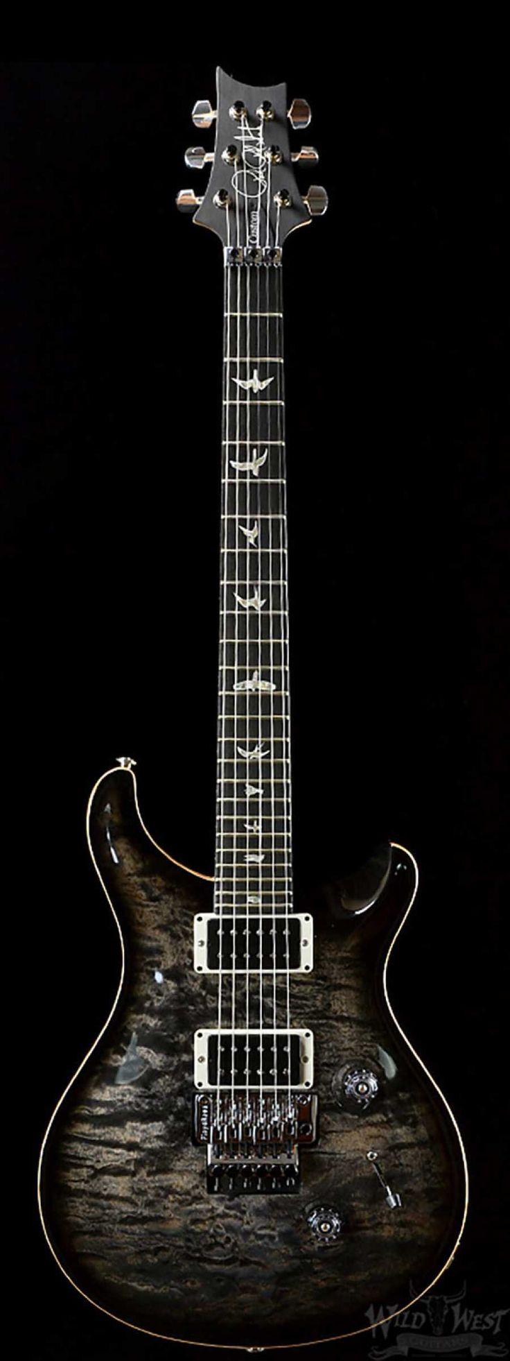 PRS Custom 24 Floyd Charcoal Burst 10 Top - Wild West Guitars