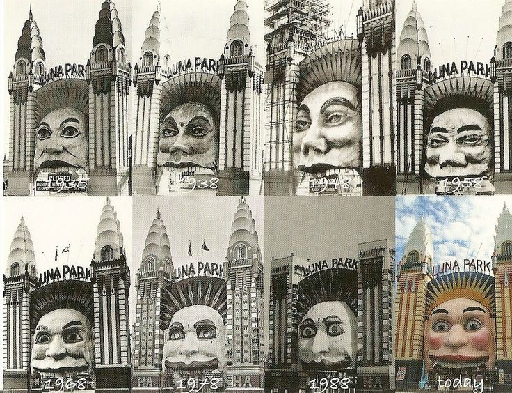 History of the many faces of Luna Park.