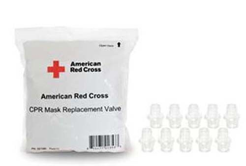 American Red Cross 10 CPR mask Clear Replacement Valves #AmericanRedCross