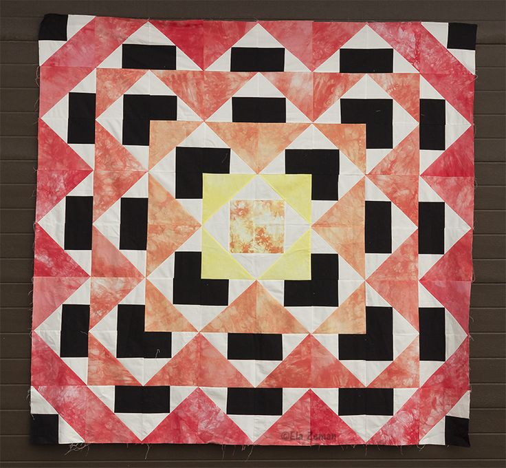patchworki z tkanin farbowanych ręcznie