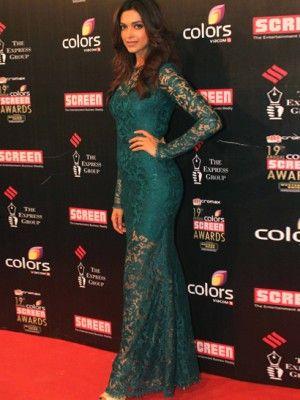 KOOVS Lace Maxi Dress - In The Style Of Deepika Padukone