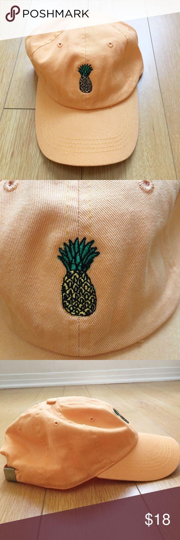 Orange Pineapple Baseball Cap Hat Nwt