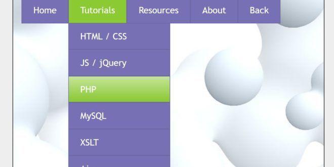 28+ Best Free HTML5 CSS3 Dropdown Menus