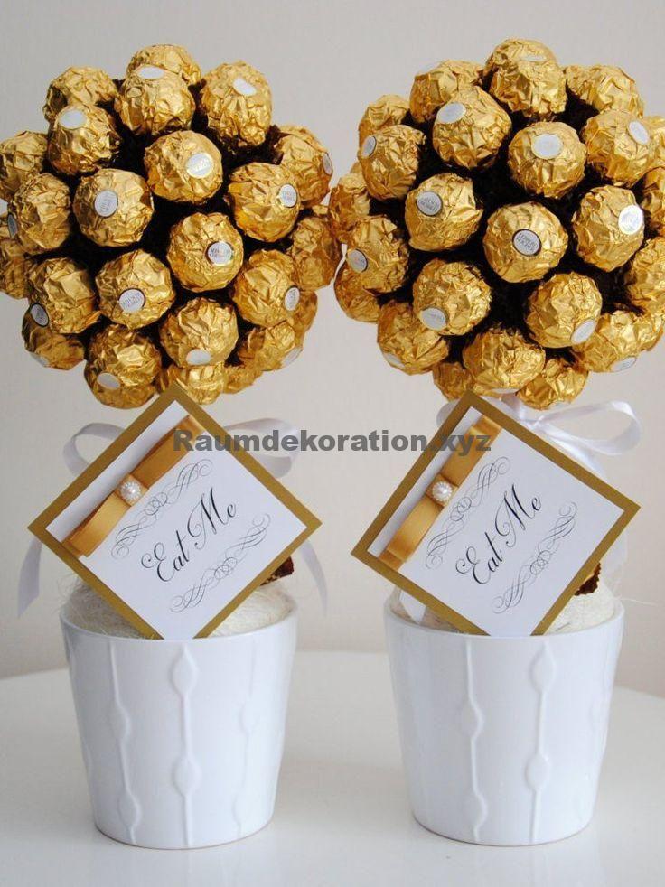 Tischdeko Hochzeit Ferrero Rocher Custom Geschenk Schokolade Lindor Baum Etsy Deko Dekohochzeit Dekora Sweet Trees Ferrero Rocher Tree Chocolate Tree
