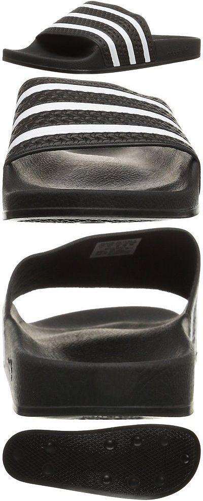 Sandals and Flip Flops 11504: Adidas Originals Mens Adilette Slide Sandal,Black White Black,11 M Us -> BUY IT NOW ONLY: $36.97 on eBay!
