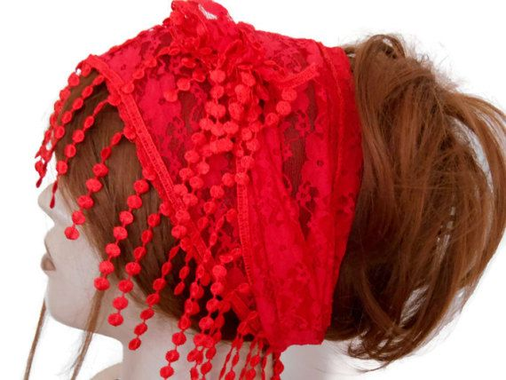 Scarf Bandana, Women Lace Hair Band, Lace Head Band, Women Head Shawl, Head scarf, Head Band, Red Head Band, Hair Cover, Lace Scarf  The red headband is stylish. It is ideal for daily life, sports, party, dance, hiking, exercise, yoga. Multipurpose. Hair band, Foulard, Shawl. You can use many options. Clean sewing is done.    COLOR: Red   MAINTENANCE INSTRUCTIONS It can be washed at low temperatures.    Deliveries will be sent within 1-3 days of receiving payment. You can track your business…