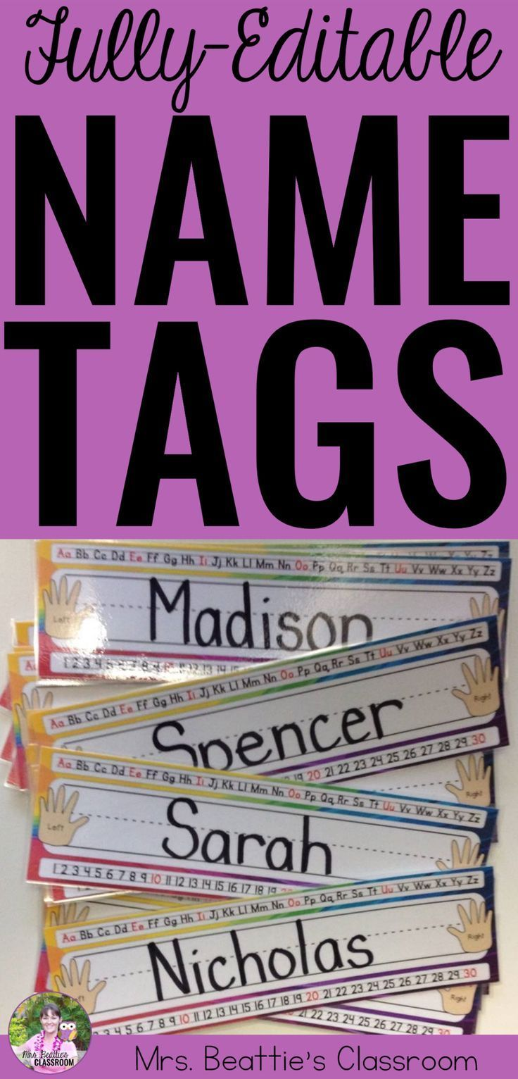 Need name tags or name plates for your classroom? These colorful tags are fully-editable and come in a variety of colors and patterns. I'll even customize them, by request! #nametag #nameplate #classroomdecor #backtoschool