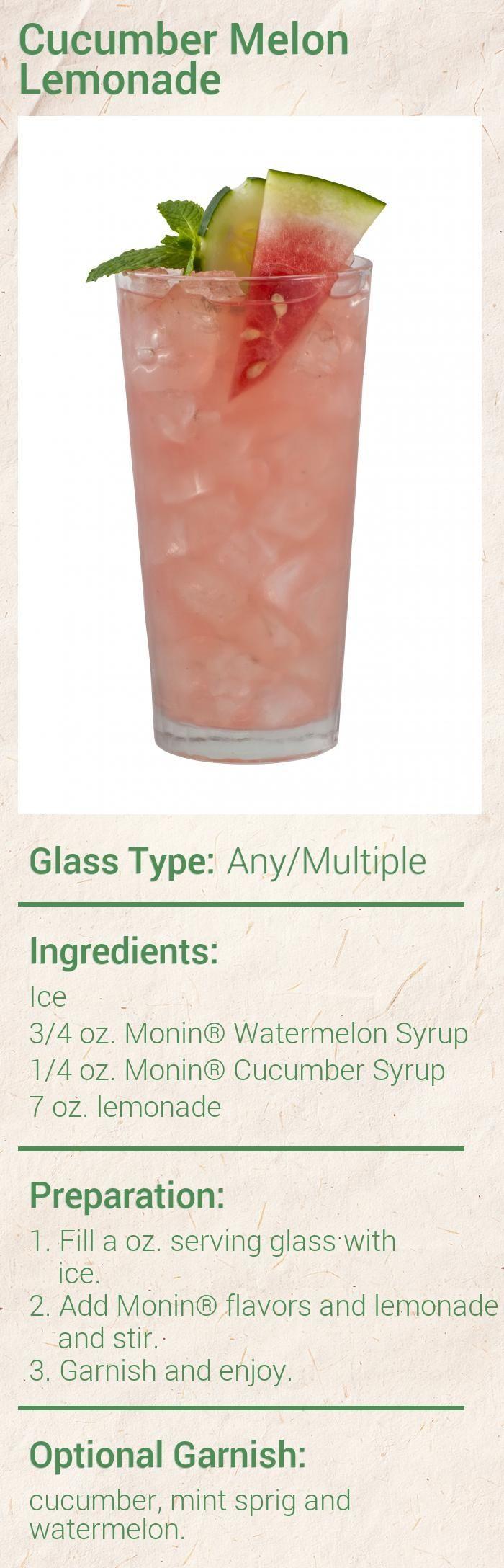 Cucumber Melon Lemonade