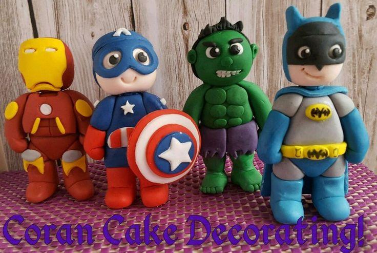 Edible Fondant Superman/Batman or Spiderman Cake Topper Any Superhero approx10cm in Home & Garden, Kitchen, Dining, Bar, Baking Accs. & Cake Decorating | eBay!