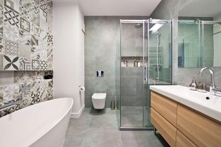 Znalezione obrazy dla zapytania wystrój łazienki patchwork