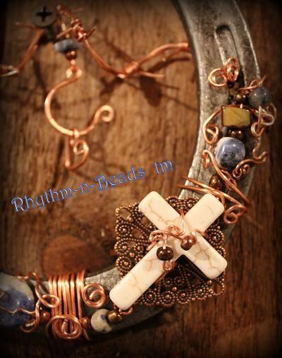 beaded horseshoes | beaded horseshoe denim blues new one of a kind hand beaded horseshoes ...