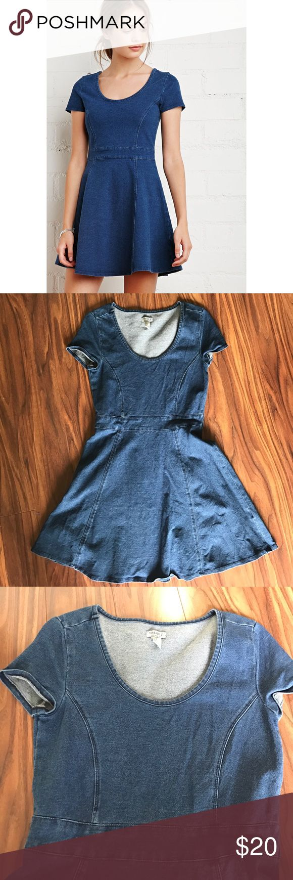 🔥SALE🔥 denim skater dress Size small from F21 not Zara. Worn once. Bundle with 2 more items for 30% off Zara Dresses
