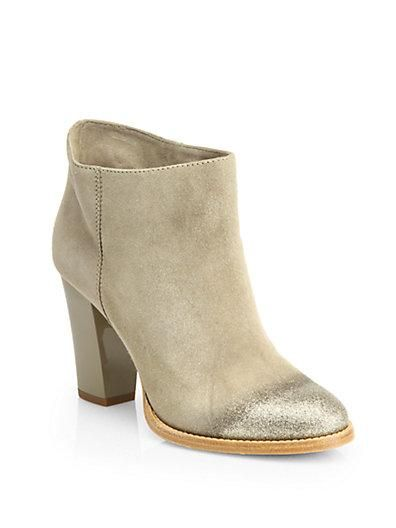 Jimmy Choo  Marley Suede Glitter-Toe Ankle Boots