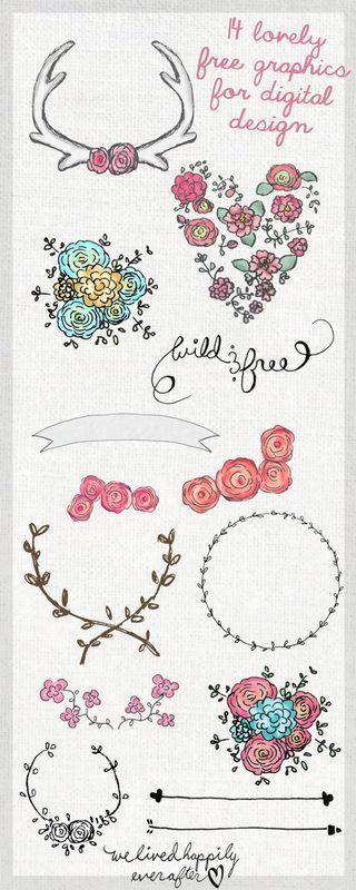 Clip art gratuit et fleuris