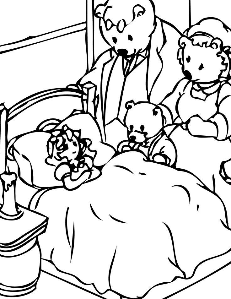 Goldilocks Poppa Bear Coloring Page