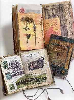Construct a richly embellished book with windows and flaps using found objects, threads, beads and embroidery.