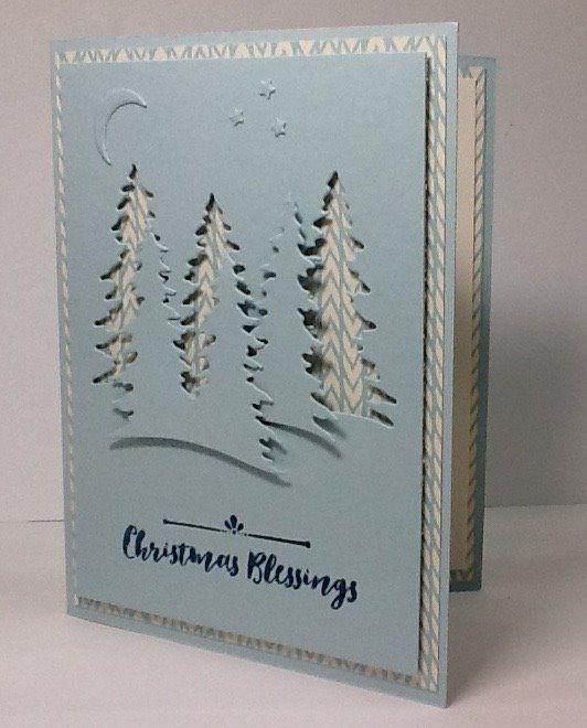 Carols of Christmas and Card Front Builder in Soft Sky, Stamping Up